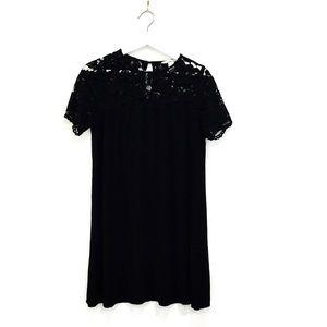 H&M Pretty Black Lacey Midi Dress Sz 8/M